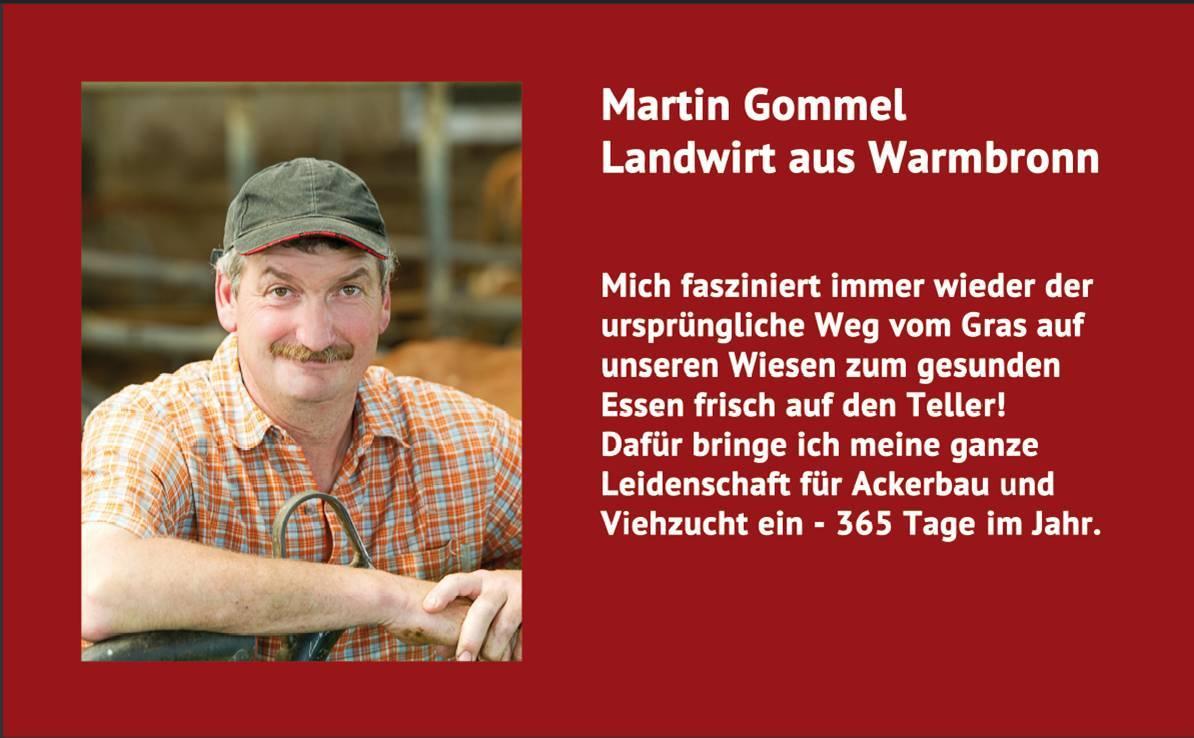 Landwirt Martin Gommel in der Instorekommunikation
