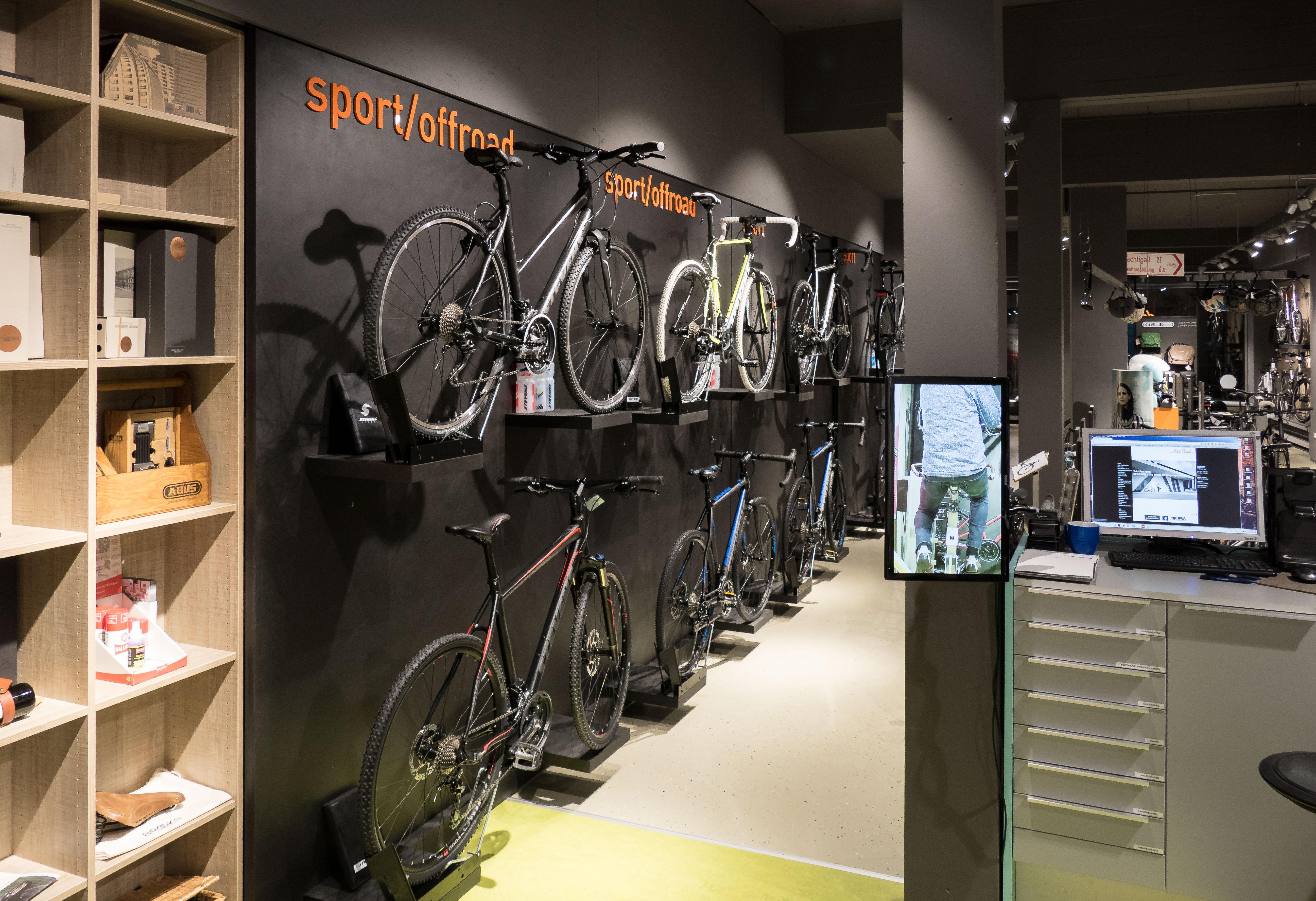 Fahrräder in hochwertiger Frontalpräsentation