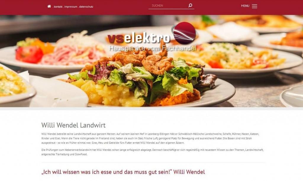 Willi Wendel Landwirt aus Leonberg in der Onlinekommunikation