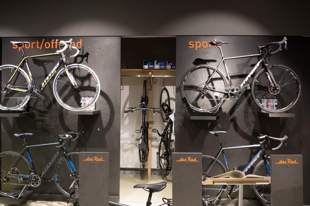 Hinter den Wänden können die Fahrräder gelagert werden